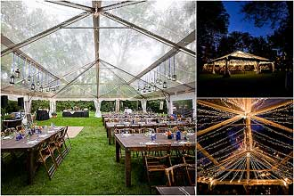 Clear top tent exterior view. Top beam track lights and track lights on side beams. & CLEAR TOP FREE SPAN TENT RENTAL. ONE OF THE MOST BEAUTIFUL FORMAL ...